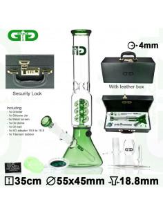 Bongo Grace Glass OG Series w skórzanej walizce wys. 34 cm szlif 18.8