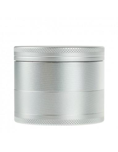 Grinder 4-częściowy metalowy bez ząbków srebrny