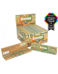 GREENGO King Size Slim Unbleached tissue papers - Brown unbleached