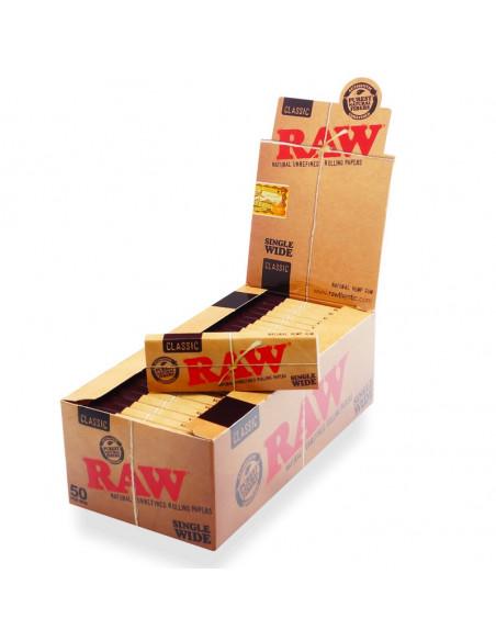 Bibułki RAW Single Wide Classic 50 szt.