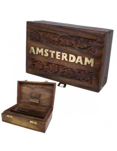 Roll Box Amsterdam pudełko na akcesoria do palenia z przegródkami 15x10 cm