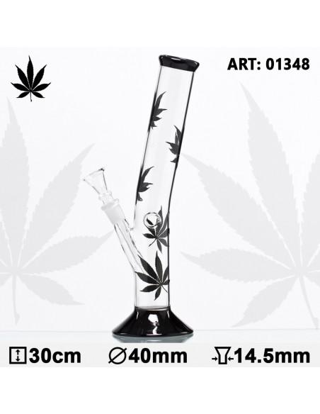 MULTILEAF HANGOVER GLASS Bongo fajka wodna 30cm BLACK