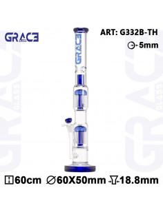 Obraz produktu: gg bongo blue grace cane 60cm 2x 10 ramion 18.8mm fajka wodna