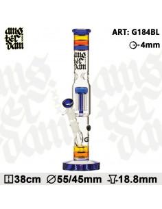 Amsterdam Glass - bongo fajka wodna 38cm 6x percolator dyfuzor icebong