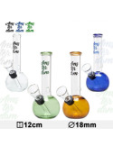 Bongo Glass Amsterdam wys. 12 cm różne kolory