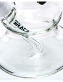 Ekskluzywne bongo Grace Glass Empire State Hit z 3 perkolatorami wys. 65 cm szlif 18.8