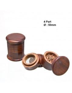 Wooden Rosewood grinder, 4 pieces, 50 mm diameter