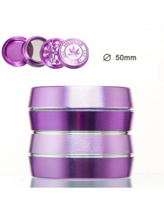 Grinder Amsterdam 4-częściowy fioletowy śr. 50 mm