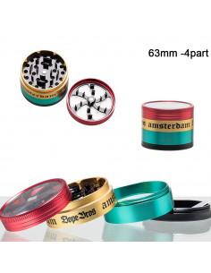 Młynek do ziół Dope Bros 4-częściowy metalowy śr. 63 mm różne kolory