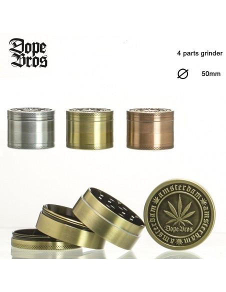 Grinder do ziół Dope Bros metalowy śr. 50 mm różne kolory