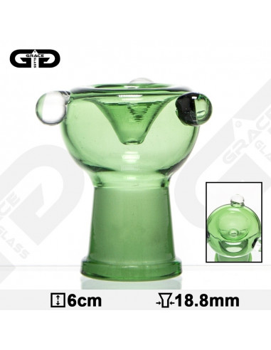 Cybuch Grace Glass do bonga o szlifie 18.8 mm wys. 6 cm