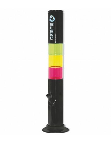 Bongo akrylowe Blend Theme Black ze szklana wstawką wys. 30 cm