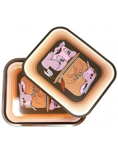 Obraz produktu: raw tray magnetic cover fish tacka do skręcania jointów z magnetyczną pokrywką