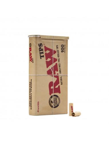Filtry RAW Pre Rolled Tips 100 szt. w metalowym pudełku