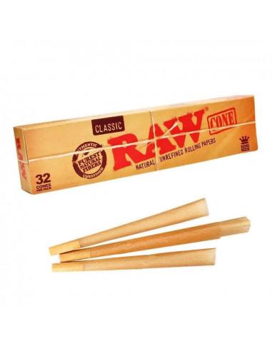 Gotowe skręcone bibułki RAW Cone Classic King Size 32 szt. w pudełku