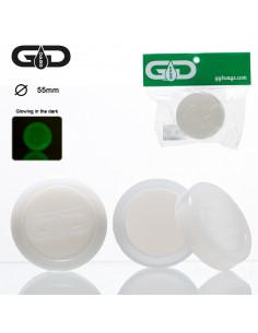 Obraz produktu: silikonowy pojemniczek grace glass na woski i olejki świecący w ciemności