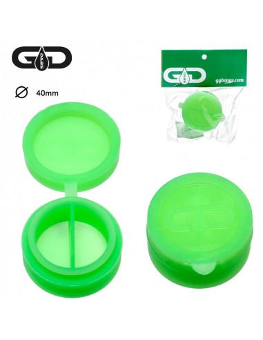 Silikonowy pojemniczek Grace Glass na woski i olejki zielony