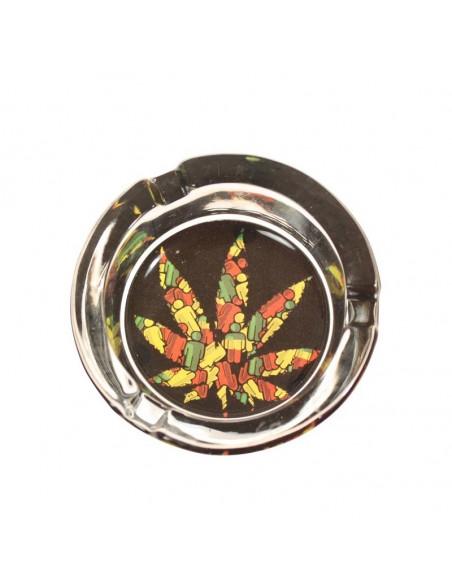 Popielniczka Leafy świecąca w ciemności 6 wzorów do wyboru