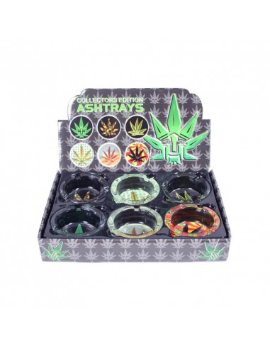 Leafy ashtray glow in the dark 6 designs to choose from