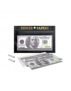 Obraz produktu: bibułki z nadrukiem 100 dolarów + filterki 12 szt. w opakowaniu