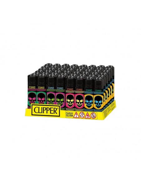 Zapalniczka Clipper Micro wzór Neon Skulls