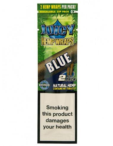 JUICY JAYS HEMP BLUNT WRAPS BLACK AND BLUEBERRY bibułki konopne jointy