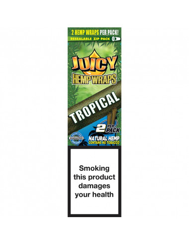 JUICY JAYS HEMP BLUNT WRAPS TROPICAL PASSION bibułki konopne jointy