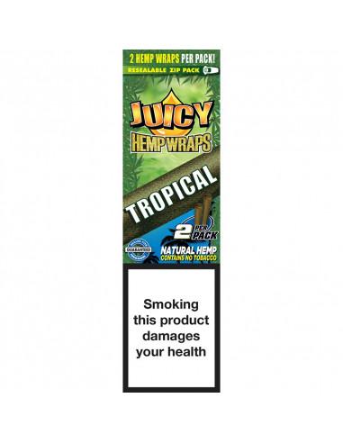 JUICY JAYS HEMP BLUNT WRAPS TROPICAL PASSION hemp tissue joints