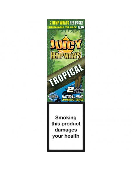 JUICY JAYS HEMP BLUNT WRAPS TROPICAL PASSION bibułki konopne jointy