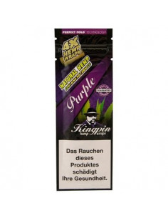 KINGPIN HEMP BLUNT WRAPS GRAPE 4szt. bibułki konopne jointy owijki
