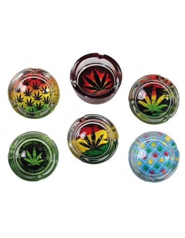 Popielniczka Cannabis Leaf 6 wzorów do wyboru
