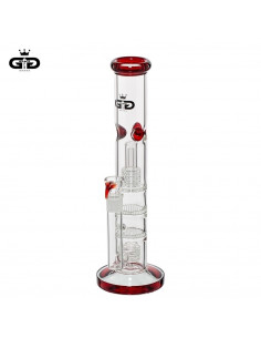 Bongo Grace Glass Five Floors Red z 4 perkolatorami wys. 36 cm