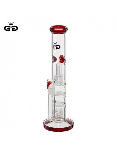 Bongo Grace Glass Five Floors Red z 4 perkolatorami wys. 36 cm