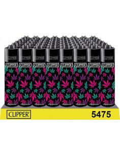 Clipper lighter LEAVES PINK...