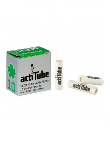 Acti Tube slim 10szt. filterki z aktywnym węglem