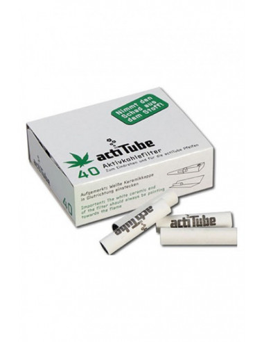 ActiTube Tune active carbon filters slim for joints, pipes 40 pcs