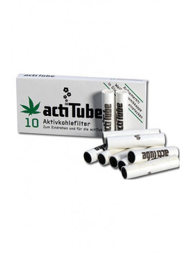 ActiTube Tune aktywne filtry węglowe slim do jointów fajek 10szt