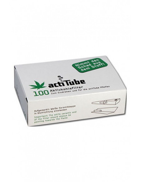ActiTube Tune active carbon filters slim for joints, pipes 100 pcs