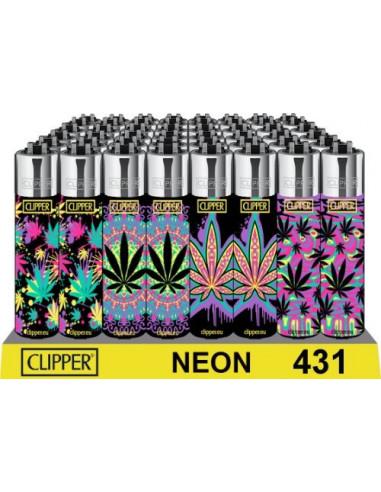 Zapalniczka Clipper wzór NEON LEAF