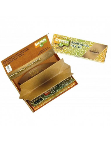 GreenGo FLY Collab papers set with tray and BROWN filters