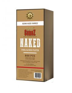 Skręcone bibułki FLY Conez King Size 800 BB Naked Unbleached