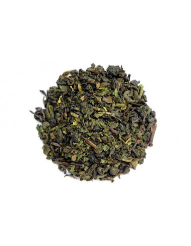 Herbata zielona z miętą - susz do...
