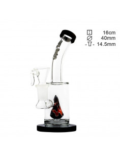 Water pipe Thuglife Birdy Black with diffuser, height 16 cm, cut 14.5 mm