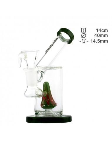 Fajka wodna Thuglife Sidecar Special Green z dyfuzorem wys. 14 cm