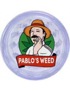 Pablo's Weed acrylic grinder transparent