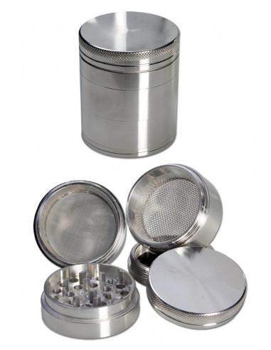 Grinder do ziół 5-częściowy metalowy srebrny