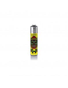 Clipper lighter, Mexican Skulls pattern 1