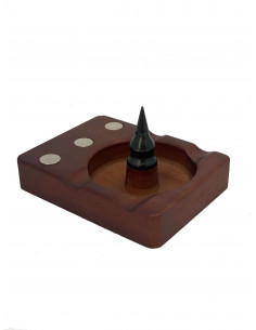 Drewniany tacka z magnesem i popielniczką na DynaVap VapCap