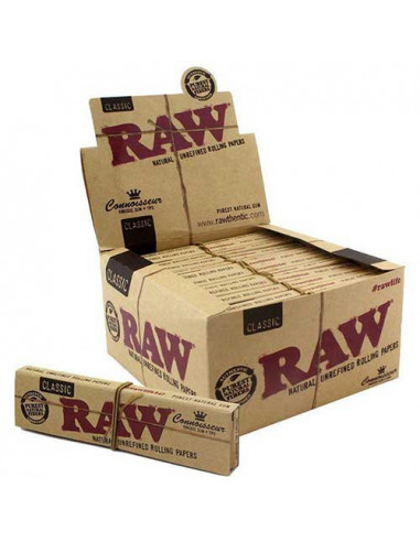 RAW Connoisseur King Size Slim tissue papers with filters 24pcs. the whole package