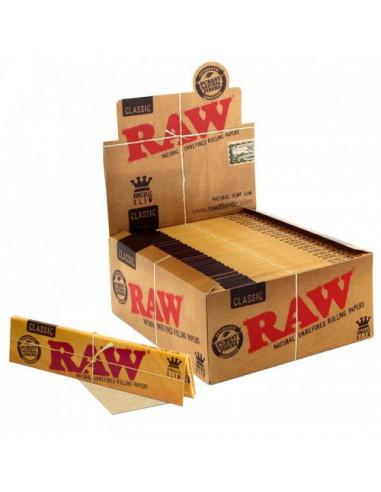 Bibułki RAW Classic King Size Slim Cała paczka 50 szt.